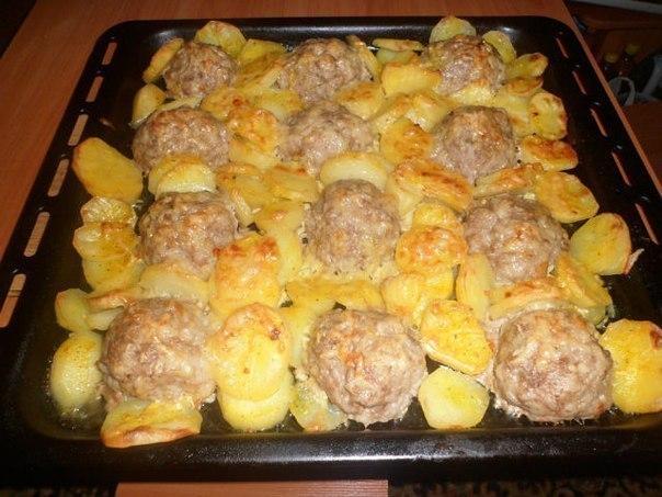Приготовить мясное блюдо в духовке